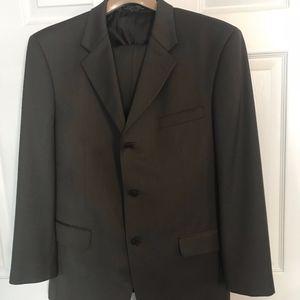 Brown wool suit by Jones New York
